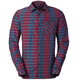 VAUDE Albsteig - T-shirt manches longues Homme - rouge/bleu